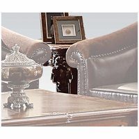 Vendome II Traditional Formal Scrolled End Table In Brown Cherry