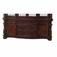 Vendome Traditional Carved Floral Buffet In Deep Cherry Finish