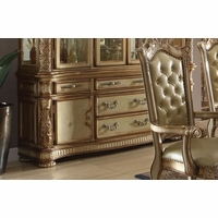 Vendome Traditional Carved Floral Buffet In Gold Patina Finish