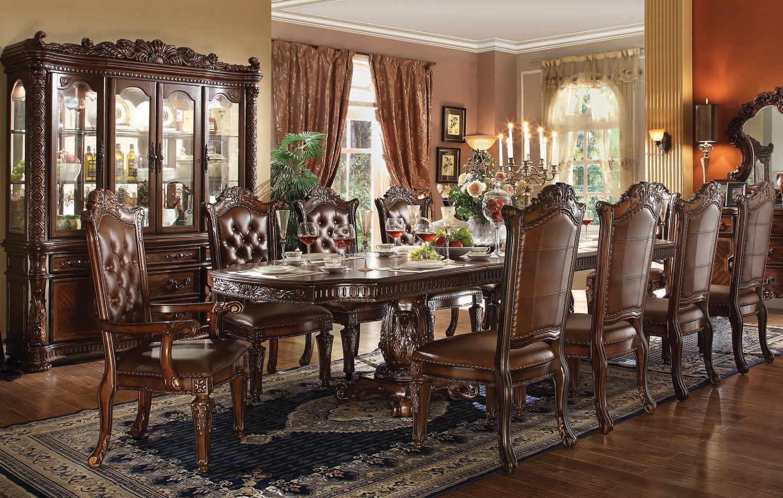 Vendome 5pc Formal Double Pedestal 136 Quot Dining Table Set