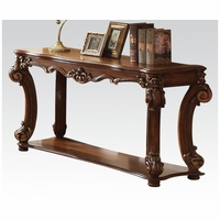 Vendome Traditional Ornate Sofa Table With Wood Top In Cherry Finish