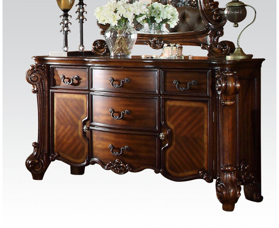 Vendome Victorian Ornate 5 Drawer Dresser With Cabinets In