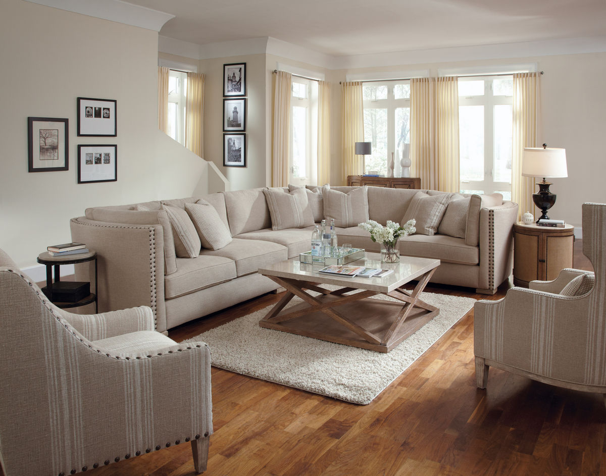 Natural sectional sofa ventura furniture collection for Sofa in a small living room