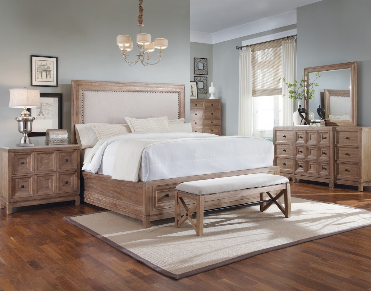 Ventura rustic contemporary bedroom furniture set 192000 for Rustic bedroom furniture