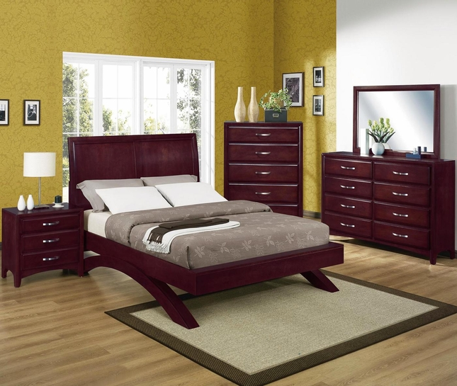 Vera Modern Low Profile Bed Contemporary Bedroom Set B6150