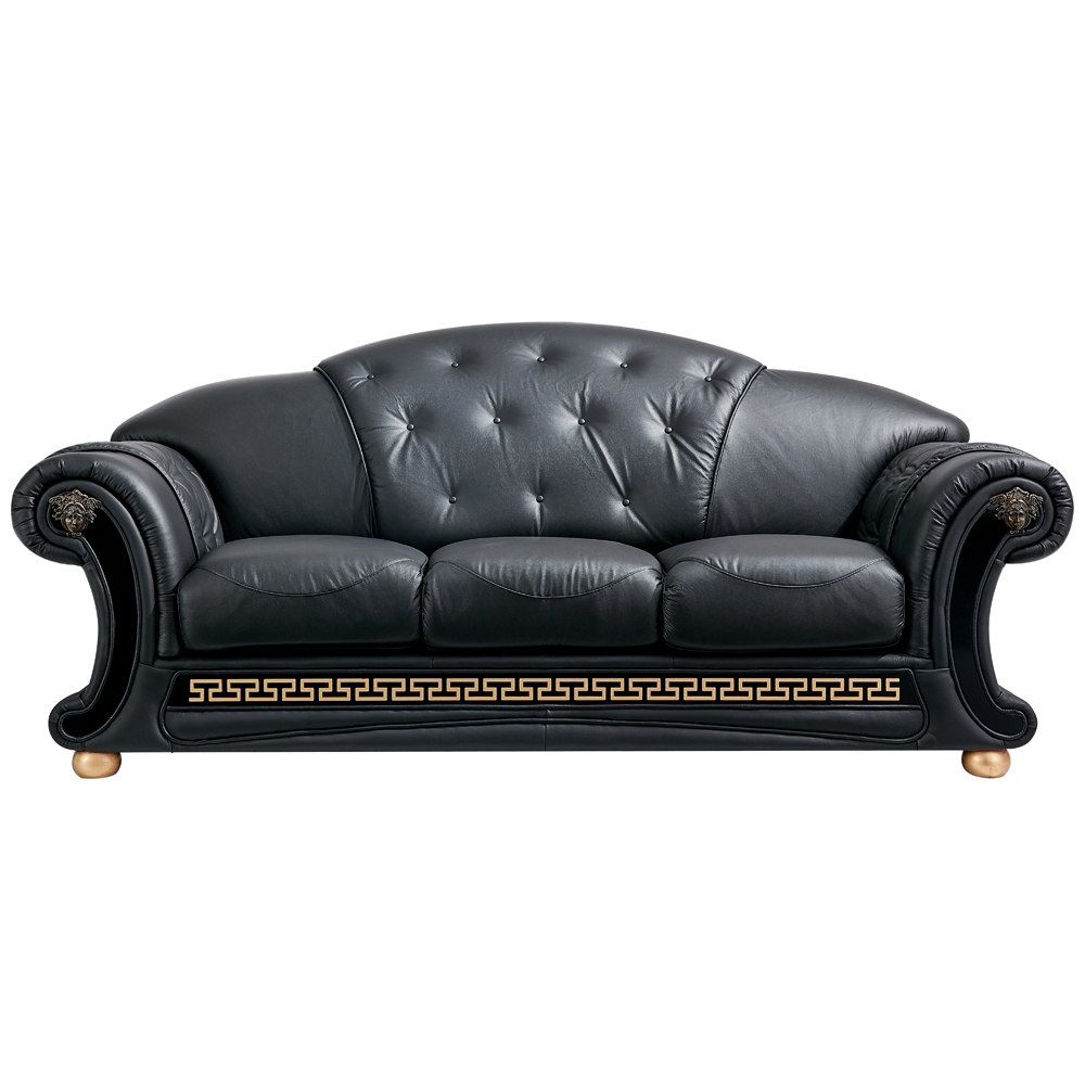 Black leather sleeper sofa leather tufted sleeper sofa for Tufted leather sleeper sofa