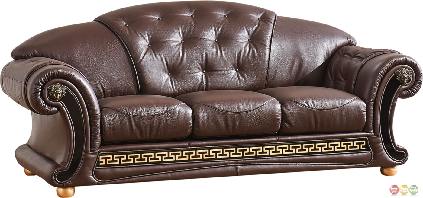 Versace leather sofa versace beige sofa esf furniture Versace sofa