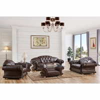 Versace Sofa & Loveseat Set In Brown Croc Skin Embossed Top Grain Leather