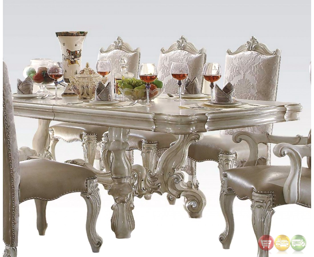 Versailles 120 traditional bone white parquet pattern for 120 table