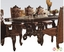 """Versailles 120"""" Traditional Cherry Oak Parquet Pattern Dining Table"""