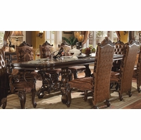 "Versailles 120"" Traditional Cherry Oak Parquet Pattern Dining Table"