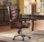 Versailles Cherry Oak Button Tufted Lift And Swivel Office Chair