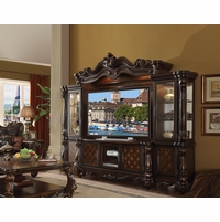 "Versailles Cherry Oak Ornamental 72"" TV Entertainment Wall Unit"