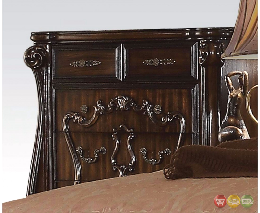 Versailles classic 5 drawer ornate chest in rich cherry oak - New classic versailles bedroom set ...