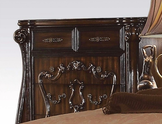 Versailles Classic 5-drawer Ornate Chest  In Rich Cherry Oak