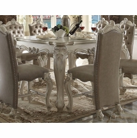 "Versailles Formal Bone White 56"" Square Counter Height Dining Table"