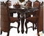 """Versailles Formal Cherry Oak 56"""" Square Counter Height Dining Table"""