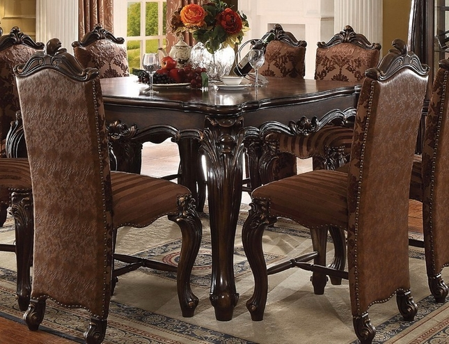 Versailles Formal Cherry Oak Square Counter Height Dining Table - Square formal dining table