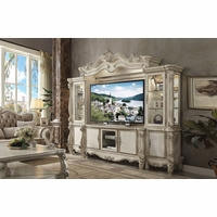 "Versailles Ornamental 72"" TV Entertainment Wall Unit In Bone White"
