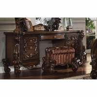 Versailles Traditional 7-drawer Vanity Desk In Rich Cherry Oak