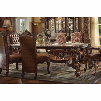 "Versailles Traditional 96"" Cherry Oak Scrolled Trim Dining Table"