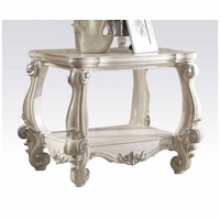 Versailles Traditional Bone White Wooden Top End Table