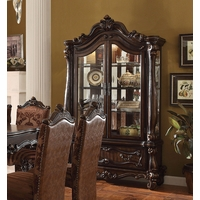 Versailles Traditional Curio Cabinet In Ornamental Cherry Oak