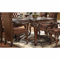 "Versailles Traditional Scrolled 71"" Dining Table In Cherry Oak"