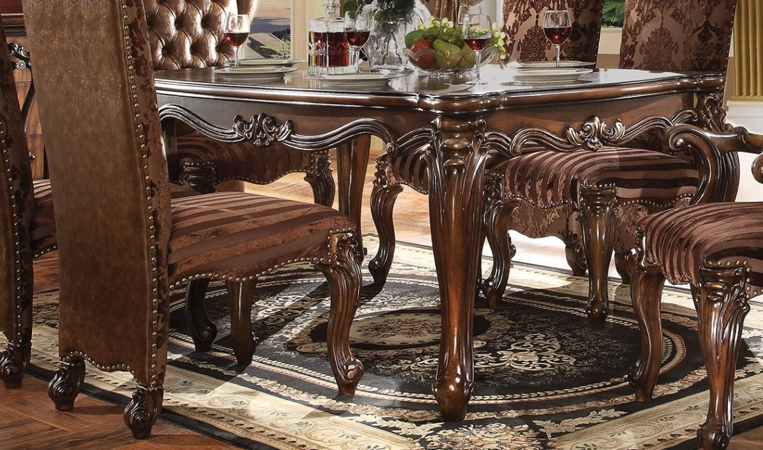 Versailles Traditional Scrolled 71 Quot Dining Table In Cherry Oak