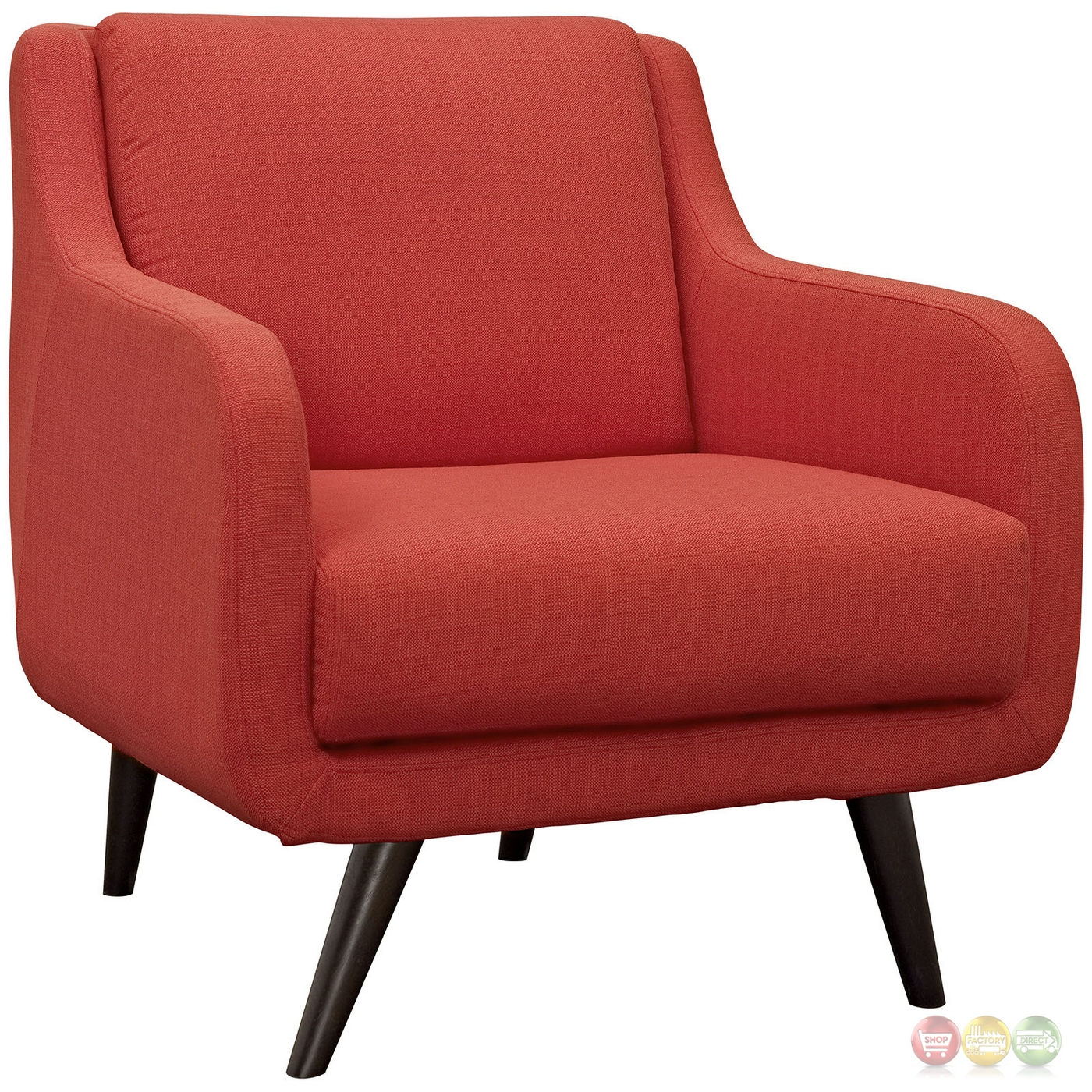 Verve mid century modern 2 pc upholstered sofa armchair for Mid century modern upholstered chair