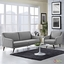 Mid-Century Modern Verve 2-pc Upholstered Sofa & Armchair Set, Light Gray