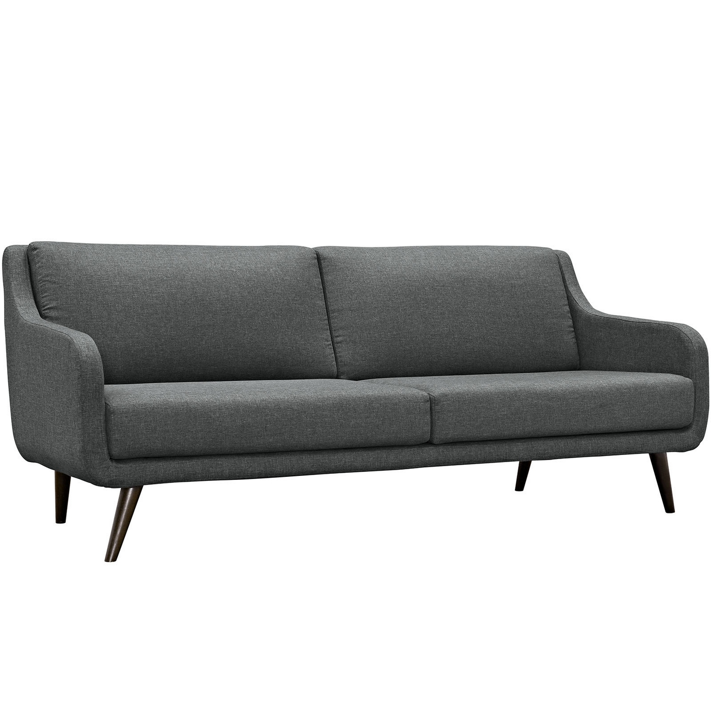 Verve mid century modern upholstered sofa with wood frame for Mid century modern upholstered chair