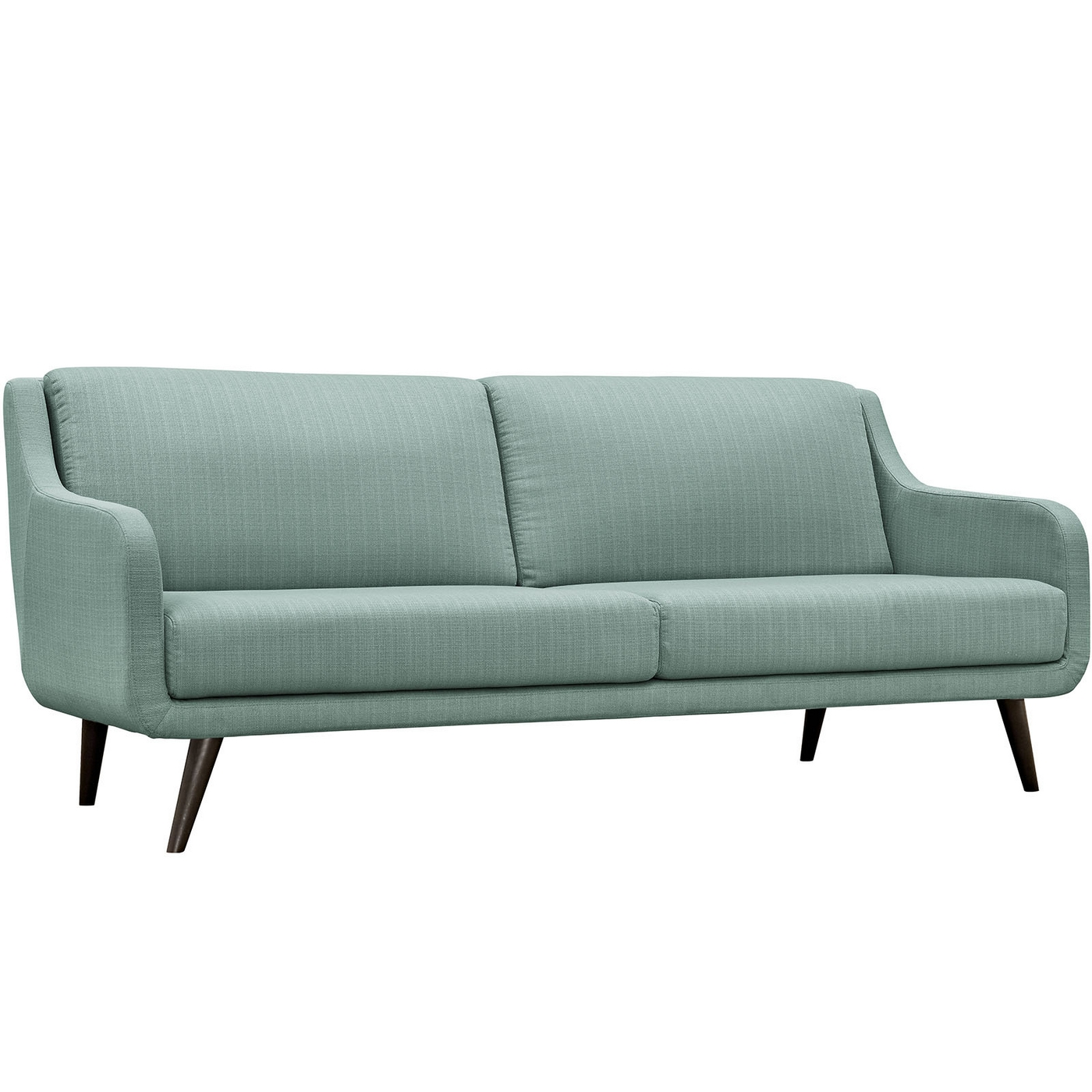 Verve Mid Century Modern Upholstered Sofa With Wood Frame Laguna