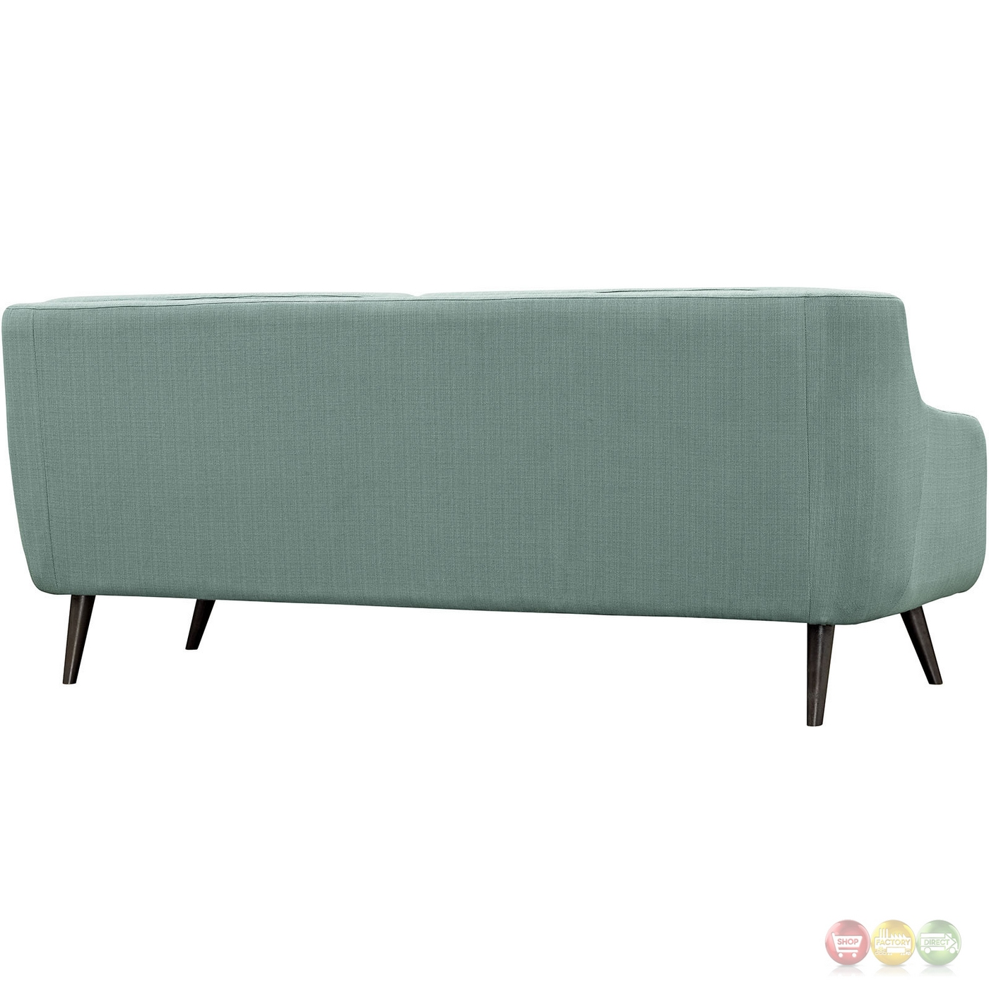 Mid-Century Modern Verve Upholstered Sofa With Wood Frame
