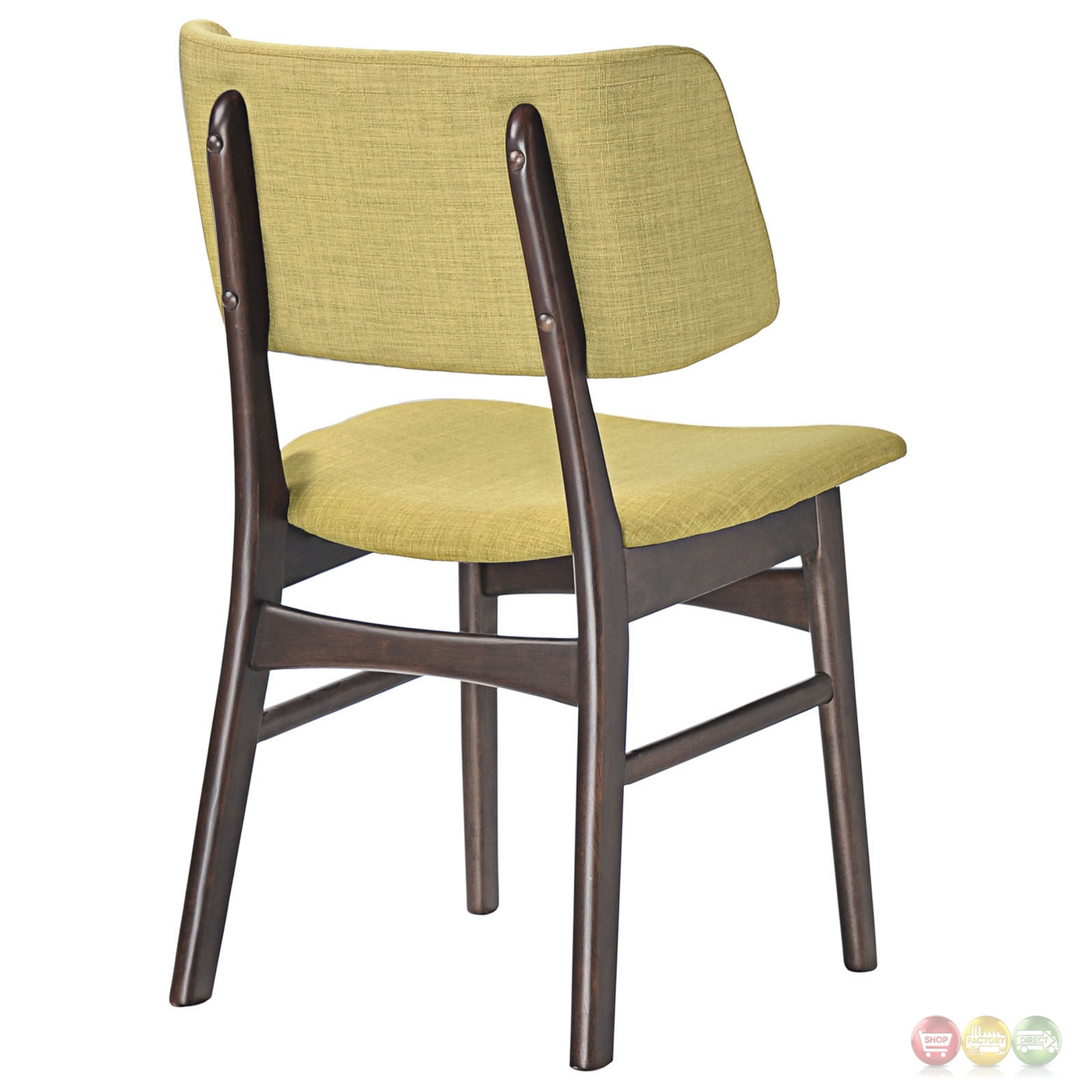 Vestige vintage modern walnut dining side chair with for Walnut dining chairs modern