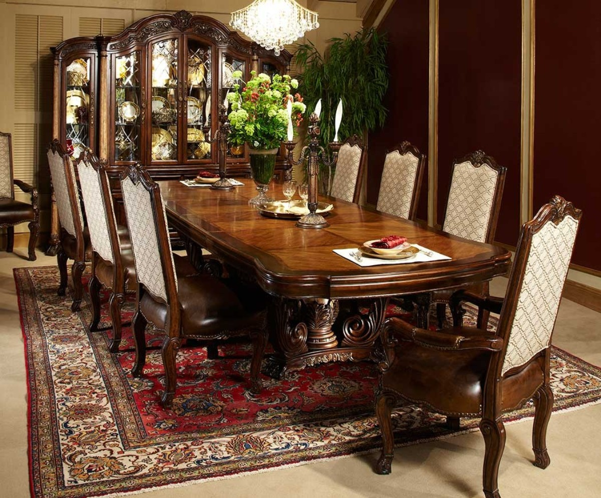 dining room tablea high definition pics | Michael Amini Victoria Palace Rectangular Table Dining Set ...