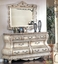 Caledonian Victorian Inspired 4pc King Canopy Bedroom Set in Antique White Finish