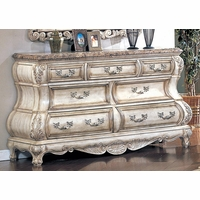 Victorian Inspired Antique White Luxury Dresser