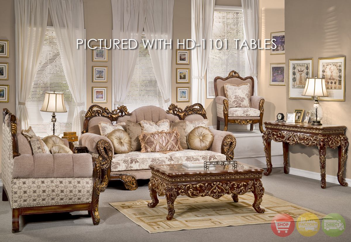 Living Room Furniture: Victorian Inspired Luxury Formal Living Room Furniture HD-275