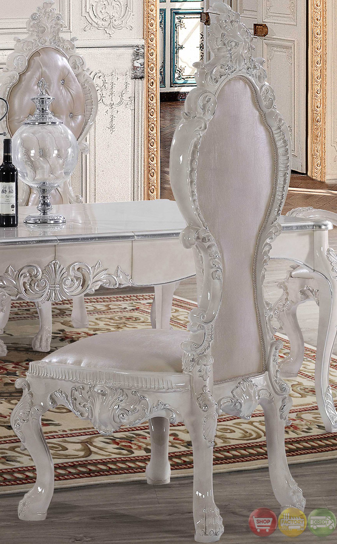 Free shipping all homey design dining sets victorian for All white dining room