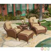 Villanova 5pc Weather Resistant Woven Outdoor Club Chair Set with Sunbrella Fabric