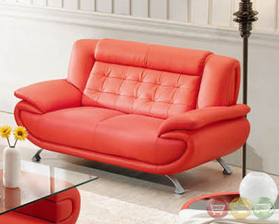 breathtaking ultra modern living room furniture | Vivien Red Ultra Modern Formal Living Room Sets with ...