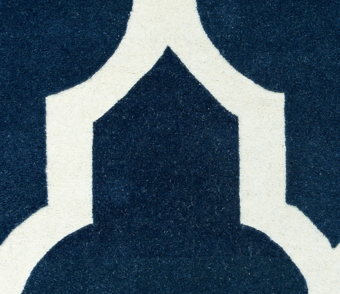 Royal Blue And White Trellis Rug: Volare Minimalist Trellis Wool Area Rug In Navy & Off