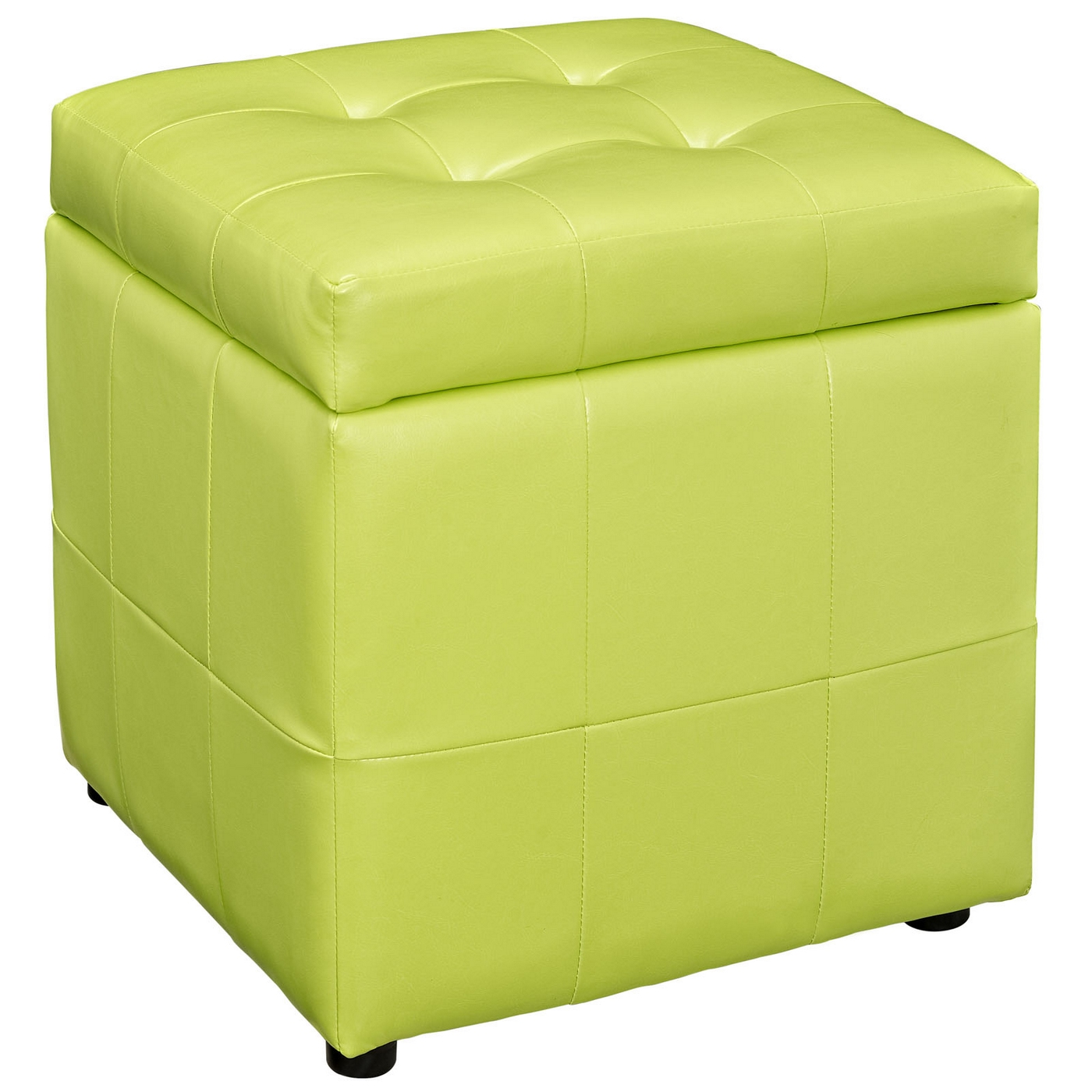 Volt Contemporary Upholstered Button Tufted Storage