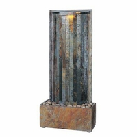 Waterwall Table Top Wall Water Fountain Natural Slate - 50285SL