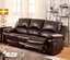 Watkins Reclining Sofa & Loveseat Set In Dark Brown Top Grain Leather