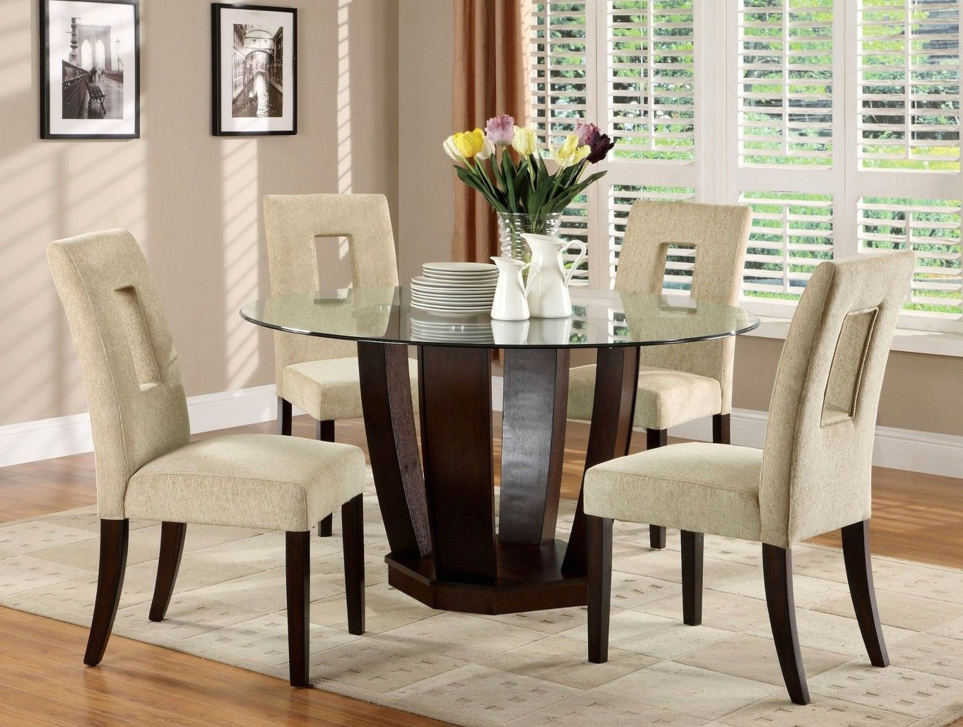 West Palm I Contemporary Espresso Casual Dining Set With