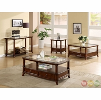 Westerville Cherry Accent Tables with Bottom Drawers CM4130