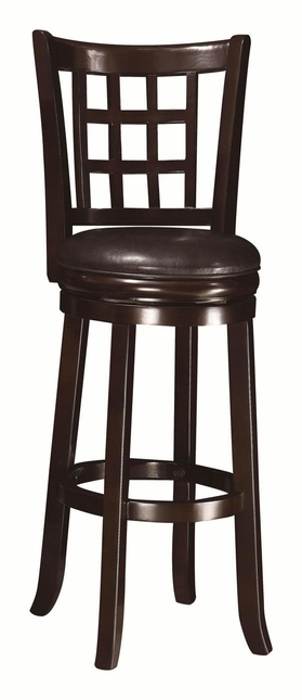 Wheat Finish Back Style 29 Inch Padded Seat Bar Stool