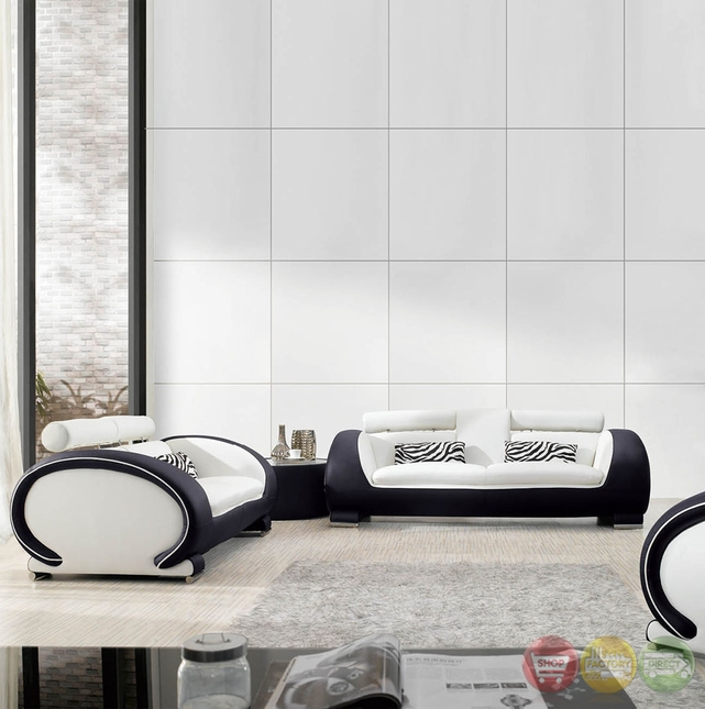 breathtaking ultra modern living room furniture | White Lilly Ultra Modern Formal Living Room Sets with ...